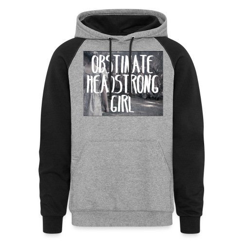 Obstinate Headstrong Girl - Colorblock Hoodie