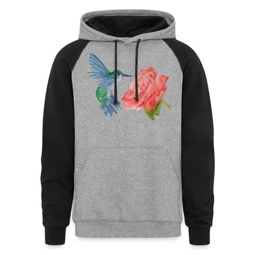 Hummingbird - Unisex Colorblock Hoodie