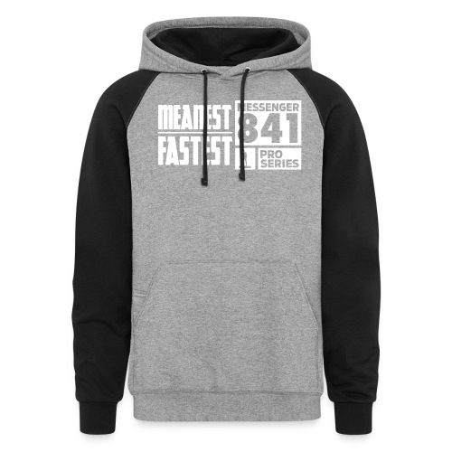 Messenger 841 Meanest and Fastest Crew Sweatshirt - Colorblock Hoodie