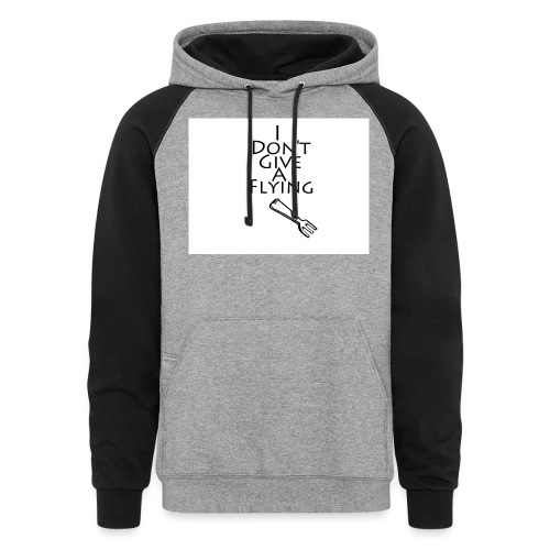 I Don't Give A Flying Fork - Colorblock Hoodie