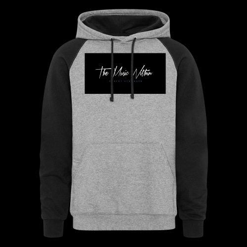 the music within mens hoodie - Unisex Colorblock Hoodie