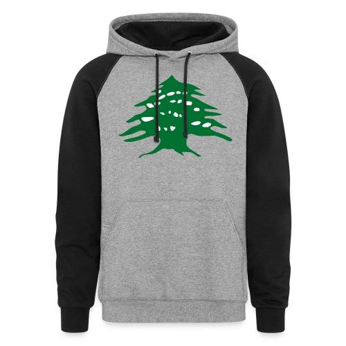 Lebanese Pride Shirt - Colorblock Hoodie