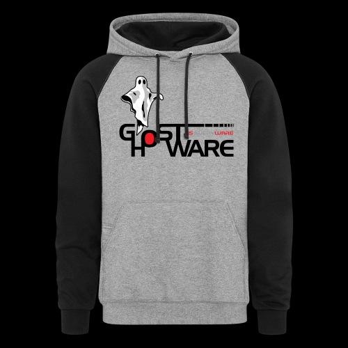 Ghostware Wide Logo - Unisex Colorblock Hoodie