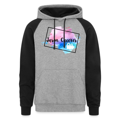 Jason Caceres Opening Intro Logo - Unisex Colorblock Hoodie