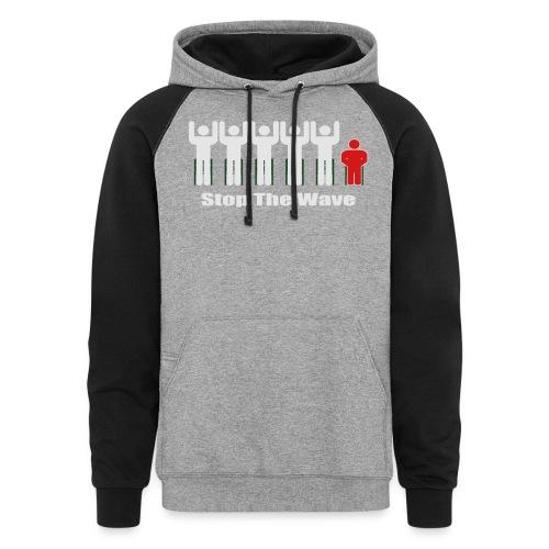Men's Stop The Wave Logo T-Shirt - Colorblock Hoodie