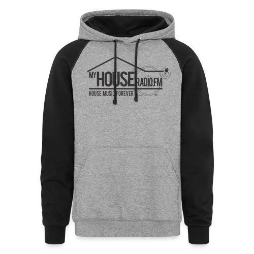 My House Radio Black Logo - Colorblock Hoodie