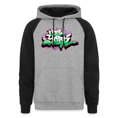 RANGE - Design for New York Graffiti Color Logo - Unisex Colorblock Hoodie
