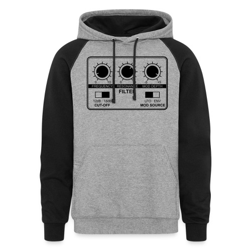 Synth Filter with Knobs - Unisex Colorblock Hoodie