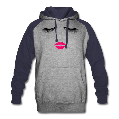 Lipstick and Eyelashes - Colorblock Hoodie