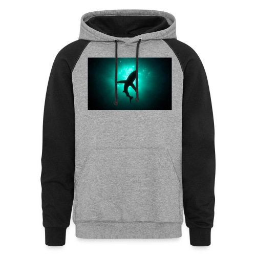 Shark in the abbis - Colorblock Hoodie