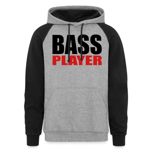Bass Player - Unisex Colorblock Hoodie