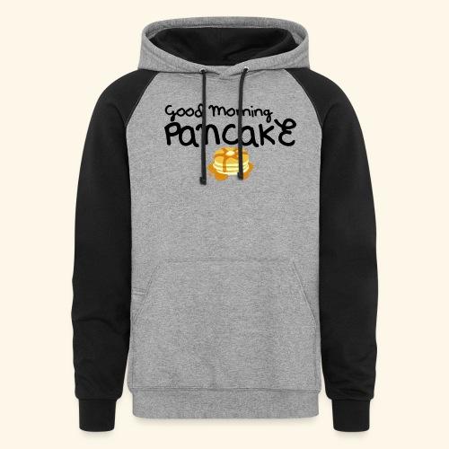 Good Morning Pancake Mug - Unisex Colorblock Hoodie