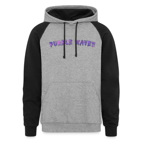 Purple Waves - Colorblock Hoodie