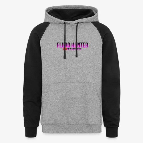 The Fluro Hunter Black And Purple Gradient - Colorblock Hoodie