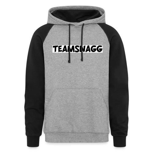 TeamSnagg Logo - Unisex Colorblock Hoodie