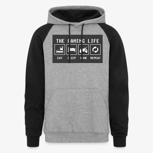 Gaming is life - Unisex Colorblock Hoodie