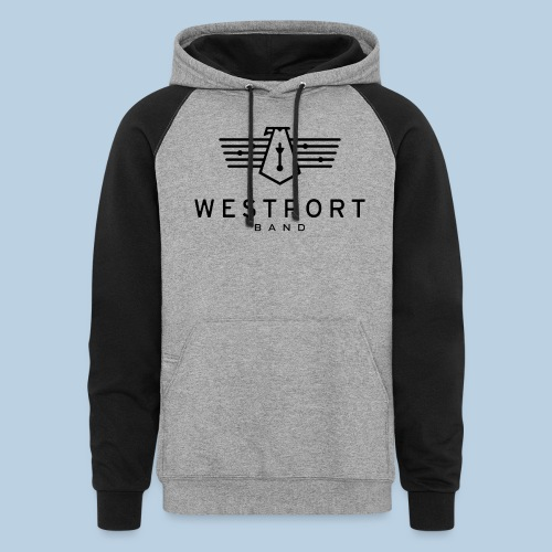 Westport Band Back on transparent - Unisex Colorblock Hoodie