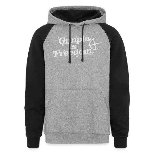 Freedom Men's T-shirt — Banshee Black - Unisex Colorblock Hoodie