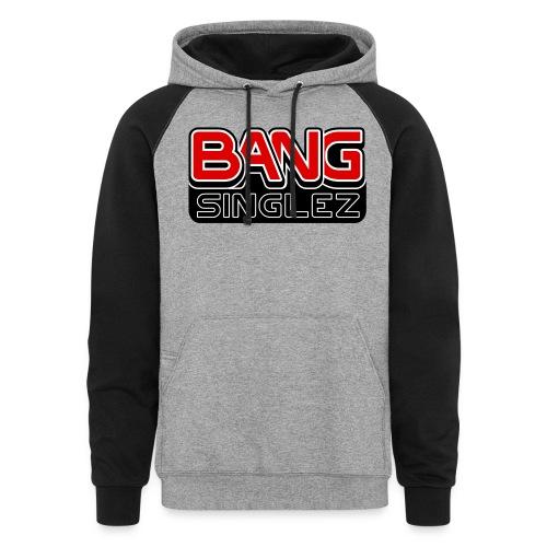 BangSinglez Logo Red - Unisex Colorblock Hoodie