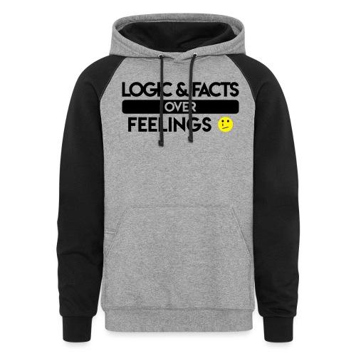 facts over feelings black - Colorblock Hoodie