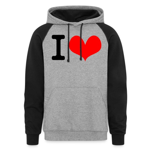 I Love what - Unisex Colorblock Hoodie