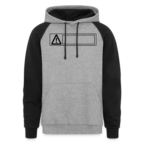 warning sign - Unisex Colorblock Hoodie