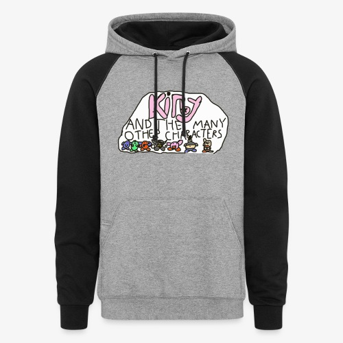 Kirby and the many other characters - Colorblock Hoodie