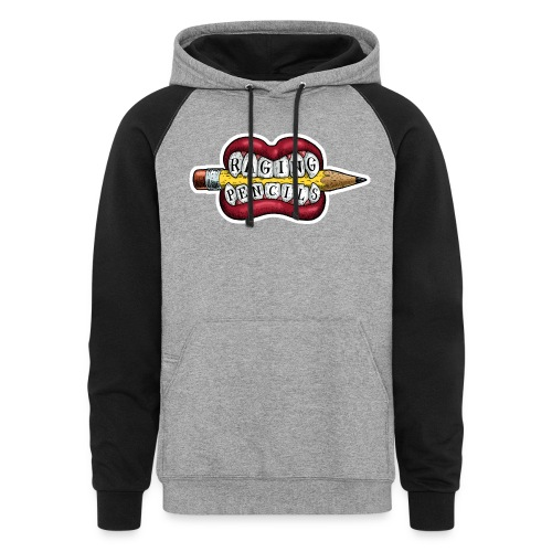 Raging Pencils Bargain Basement logo t-shirt - Unisex Colorblock Hoodie