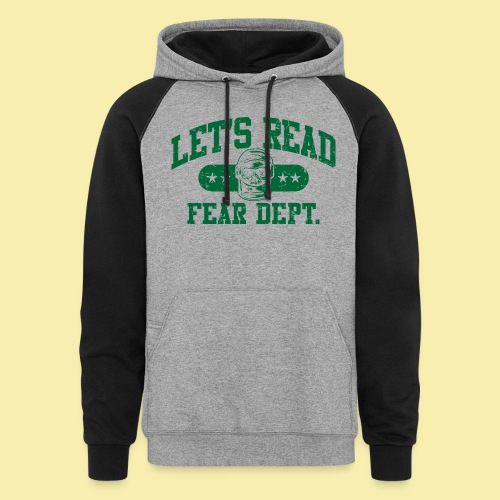 Athletic Green - Inverted for Dark Shirts - Colorblock Hoodie