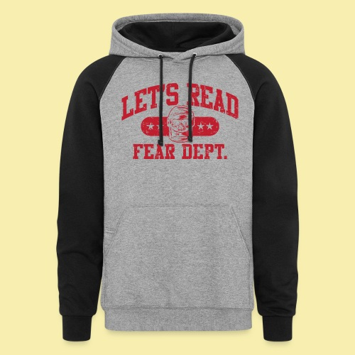Fear Dept - Athletic Red - Inverted - Colorblock Hoodie