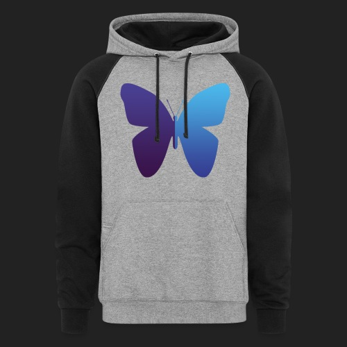 528 Evenings Butterfly - Unisex Colorblock Hoodie