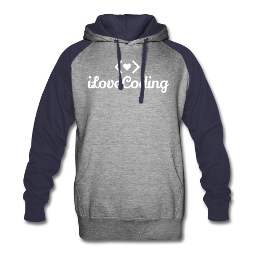 I Love Coding - Colorblock Hoodie