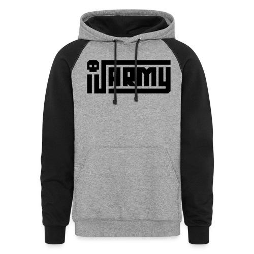 iJustine - iJ Army Logo - Unisex Colorblock Hoodie