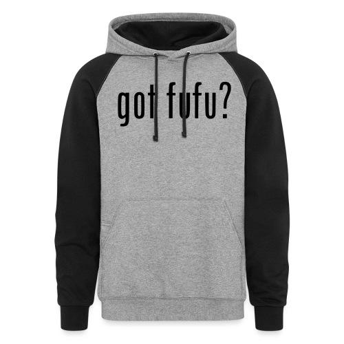 gotfufu-black - Unisex Colorblock Hoodie