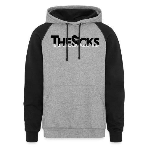 The Sicks - logo black - Colorblock Hoodie