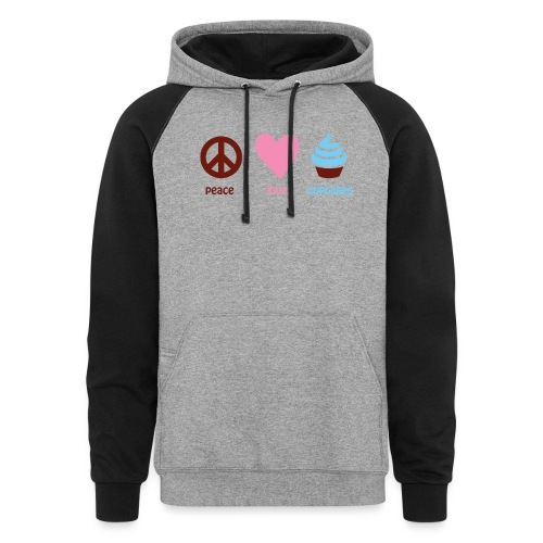 peacelovecupcakes pixel - Colorblock Hoodie