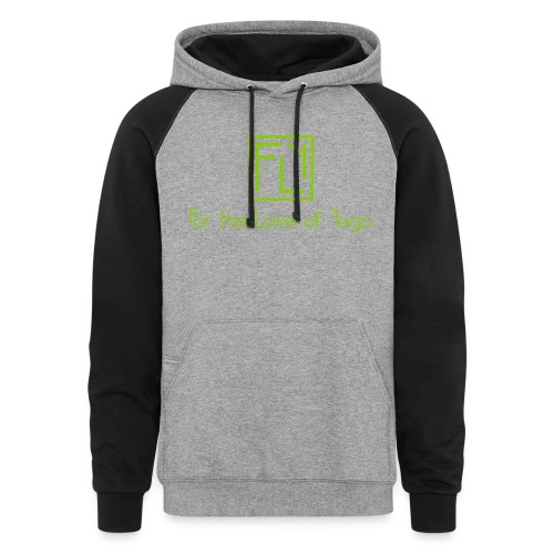 For the Love of Yoga - Unisex Colorblock Hoodie