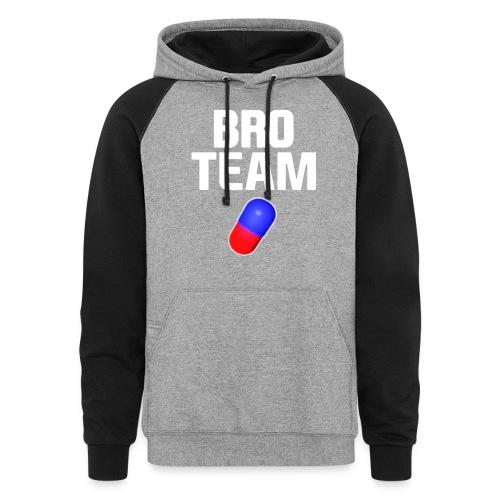 Bro Team White Words Logo Women's T-Shirts - Unisex Colorblock Hoodie