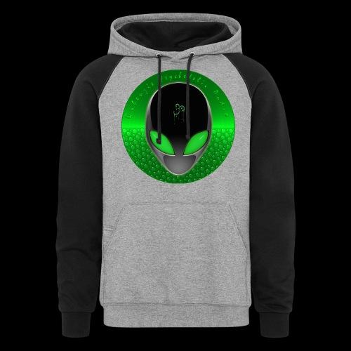 Psychedelic Alien Dolphin Green Cetacean Inspired - Unisex Colorblock Hoodie