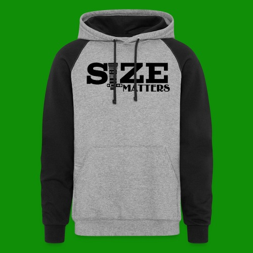 Size Matters Photography - Unisex Colorblock Hoodie