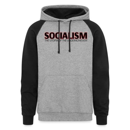 SOCIALISM UTOPIA - Colorblock Hoodie