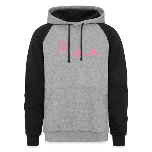 The Heartbeat of a Wanderer - Unisex Colorblock Hoodie