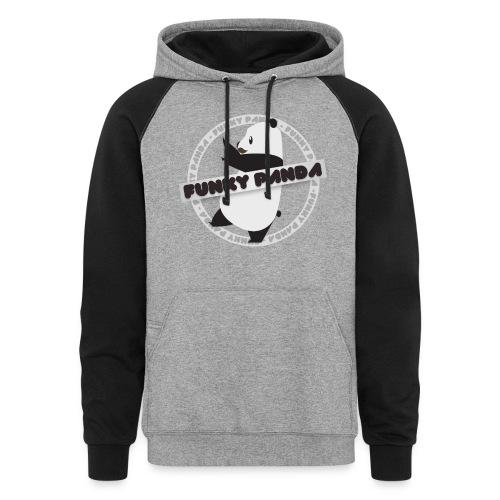 Funky Panda Logo - Unisex Colorblock Hoodie