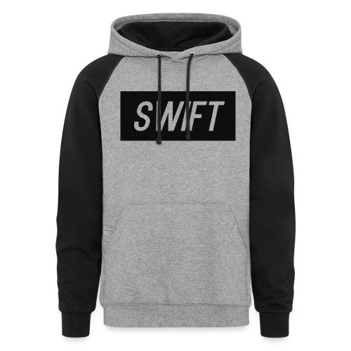 Mens Black & Grey - Hoodie : Swift Logo - Colorblock Hoodie