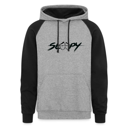 Sleepy Logo Black - Unisex Colorblock Hoodie