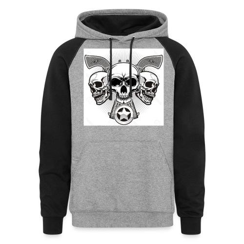 Skulls - Colorblock Hoodie