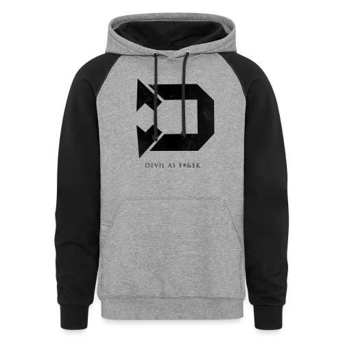 Black Hoodie Design Black png - Unisex Colorblock Hoodie