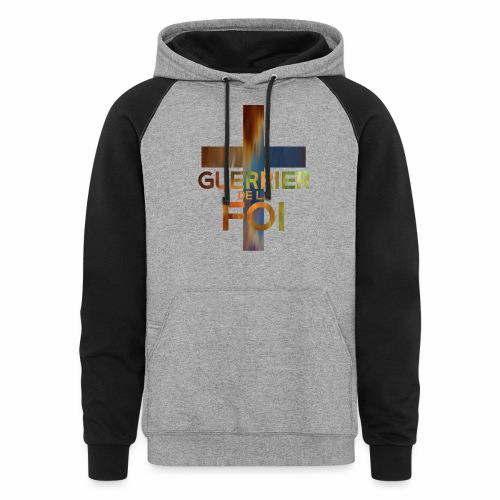WARRIOR OF FAITH - Colorblock Hoodie