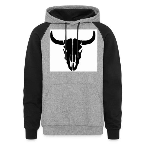 Longhorn skull - Colorblock Hoodie