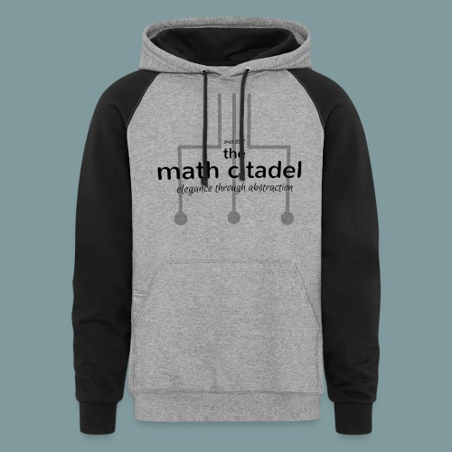 Abstract Math Citadel - Unisex Colorblock Hoodie